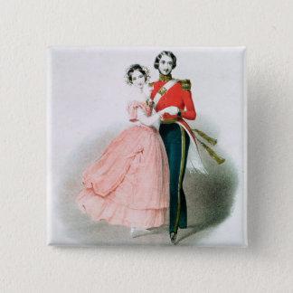 Queen Victoria 15 Cm Square Badge