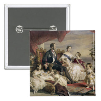 Queen Victoria (1819-1901) and Prince Albert (1819 15 Cm Square Badge