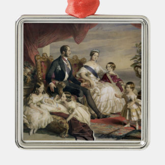 Queen Victoria (1819-1901) and Prince Albert (1819 Silver-Colored Square Decoration