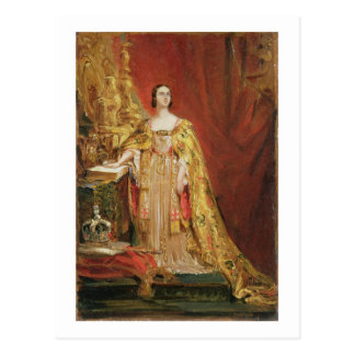 Queen Victoria (1819-1901) Taking the Coronation O Postcard