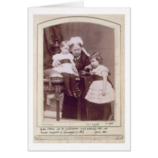 Queen Victoria (1819-1901) with her grandchildren, Cards