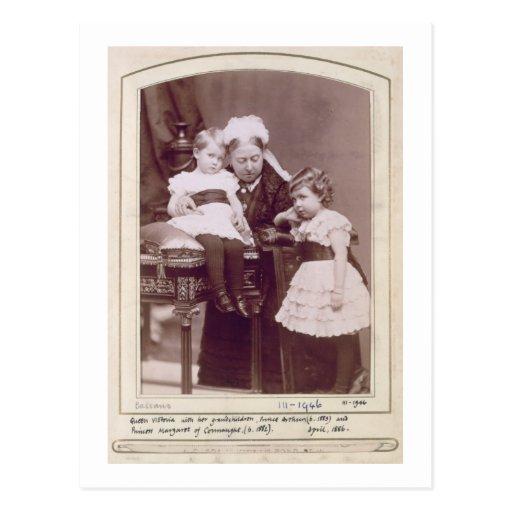 Queen Victoria (1819-1901) with her grandchildren, Postcard