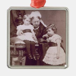 Queen Victoria (1819-1901) with her grandchildren, Silver-Colored Square Decoration
