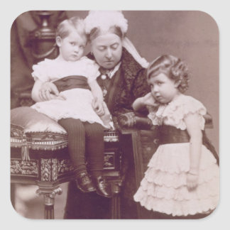 Queen Victoria (1819-1901) with her grandchildren, Square Sticker