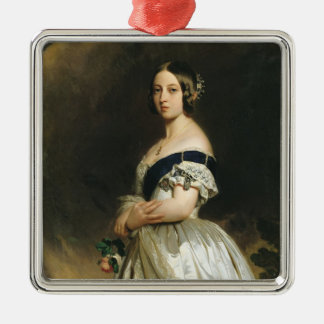 Queen Victoria  1842 Silver-Colored Square Decoration