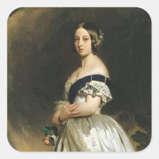 Queen Victoria  1842 Square Sticker