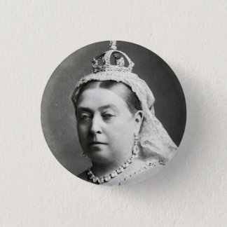 Queen Victoria 3 Cm Round Badge