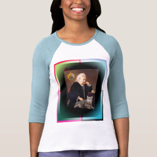 """Queen Victoria and her Cat """"Dusty"""" T-shirt"""