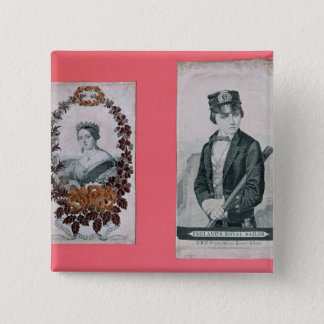 Queen Victoria and Prince Albert bookmarks 15 Cm Square Badge
