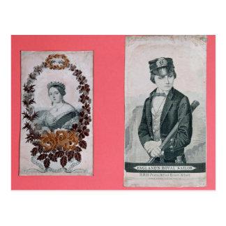 Queen Victoria and Prince Albert bookmarks Postcard