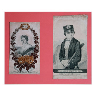 Queen Victoria and Prince Albert bookmarks Poster