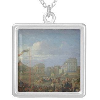 Queen Victoria  Arriving at the Gare de l'Est Silver Plated Necklace