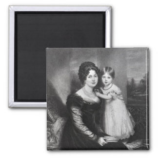 Queen Victoria as an infant with her mother Square Magnet