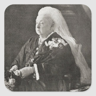 Queen Victoria  c.1899 Square Sticker