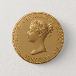 Queen Victoria Coin 6 Cm Round Badge