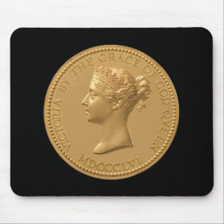 Queen Victoria Coin Mouse Mat