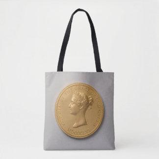 Queen Victoria Coin Tote Bag