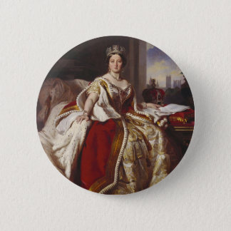 Queen Victoria: Coronation 6 Cm Round Badge