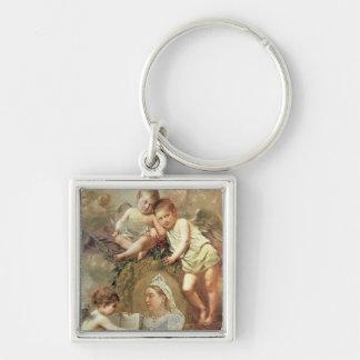 Queen Victoria - In Memoriam Silver-Colored Square Key Ring