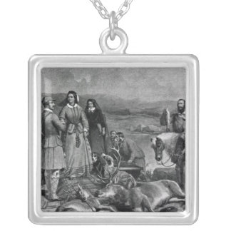 Queen Victoria landing at Loch Muick Silver Plated Necklace