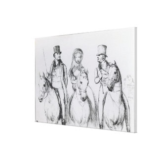 Queen Victoria, Lord Melbourne and Lord Russell Canvas Print