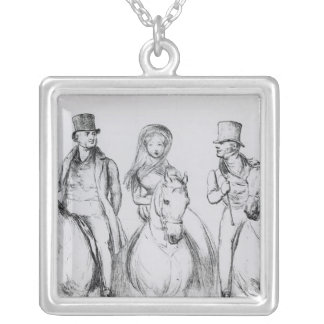 Queen Victoria, Lord Melbourne and Lord Russell Silver Plated Necklace