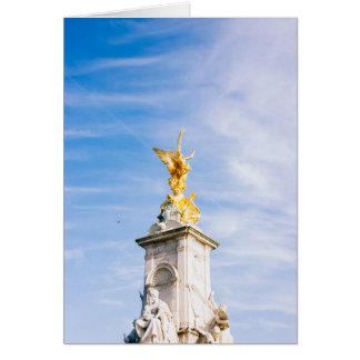 Queen Victoria Memorial Statue, London UK Greeting Card