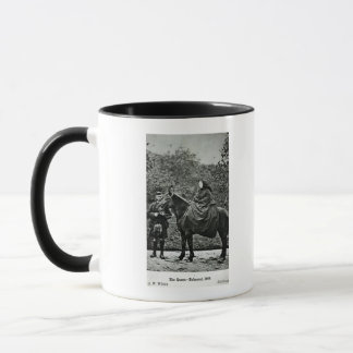 Queen Victoria  on horseback at Balmoral , 1863 Mug