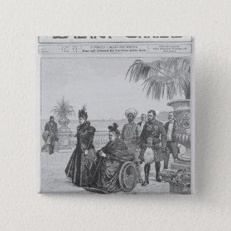 Queen Victoria on the Italian Riviera 15 Cm Square Badge