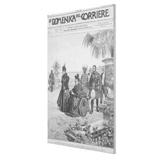 Queen Victoria on the Italian Riviera Canvas Print