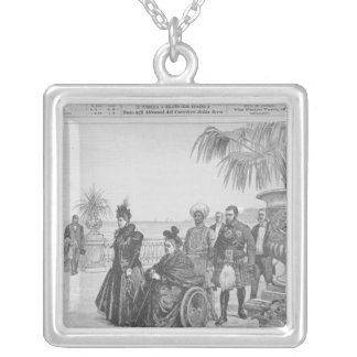 Queen Victoria on the Italian Riviera Silver Plated Necklace