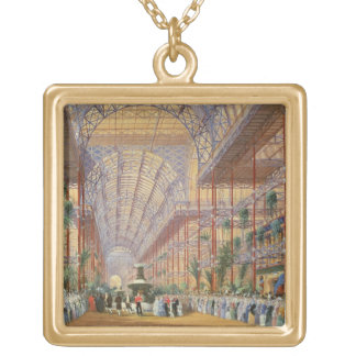 Queen Victoria Opening the 1862 Exhibition after C Gold Plated Necklace