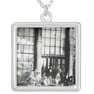 Queen Victoria & Prince Albert with their Silver Plated Necklace