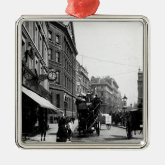 Queen Victoria Street, London, c.1891 Christmas Ornament