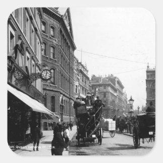 Queen Victoria Street, London, c.1891 Square Sticker