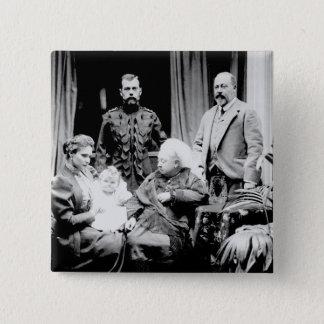Queen Victoria, Tsar Nicholas II 15 Cm Square Badge