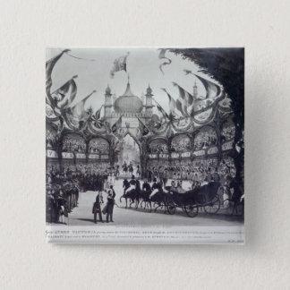 Queen Victoria's first visit to Brighton 15 Cm Square Badge