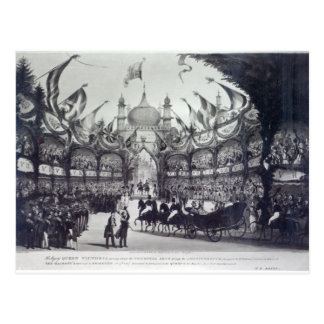Queen Victoria's first visit to Brighton Postcard