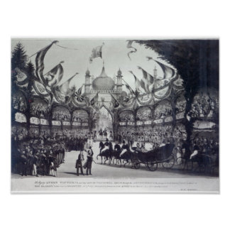 Queen Victoria's first visit to Brighton Poster