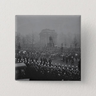 Queen Victoria's funeral cortege 15 Cm Square Badge