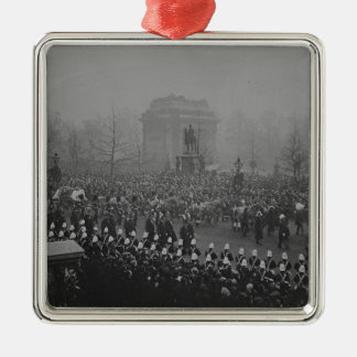 Queen Victoria's funeral cortege Silver-Colored Square Decoration
