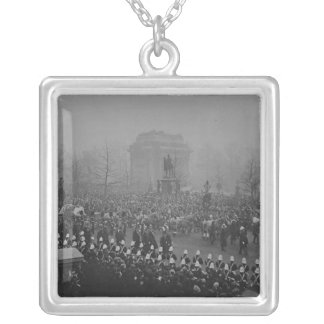 Queen Victoria's funeral cortege Silver Plated Necklace