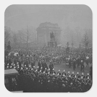 Queen Victoria's funeral cortege Square Sticker