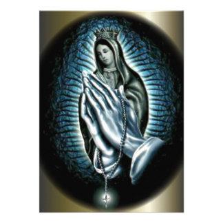 Queen Virgin Mary - Hands of Prayer Announcements
