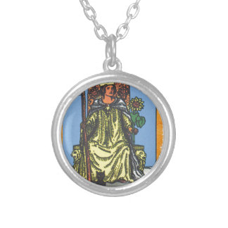 Queen Wands Tarot Card Fortune Teller Necklaces
