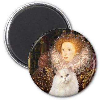 Queen - White Persian cat Refrigerator Magnet