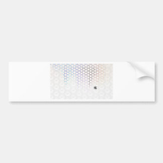 QueenBee in Colorfull Honeycomb Bumper Sticker