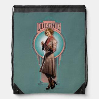 Queenie Goldstein Art Deco Panel Drawstring Bag