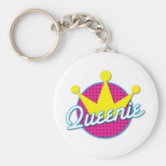 Queenie Rockabilly design Basic Round Button Key Ring