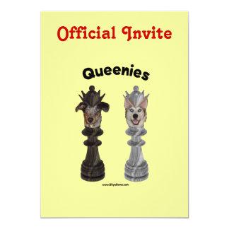Queenies Chess Dogs 13 Cm X 18 Cm Invitation Card